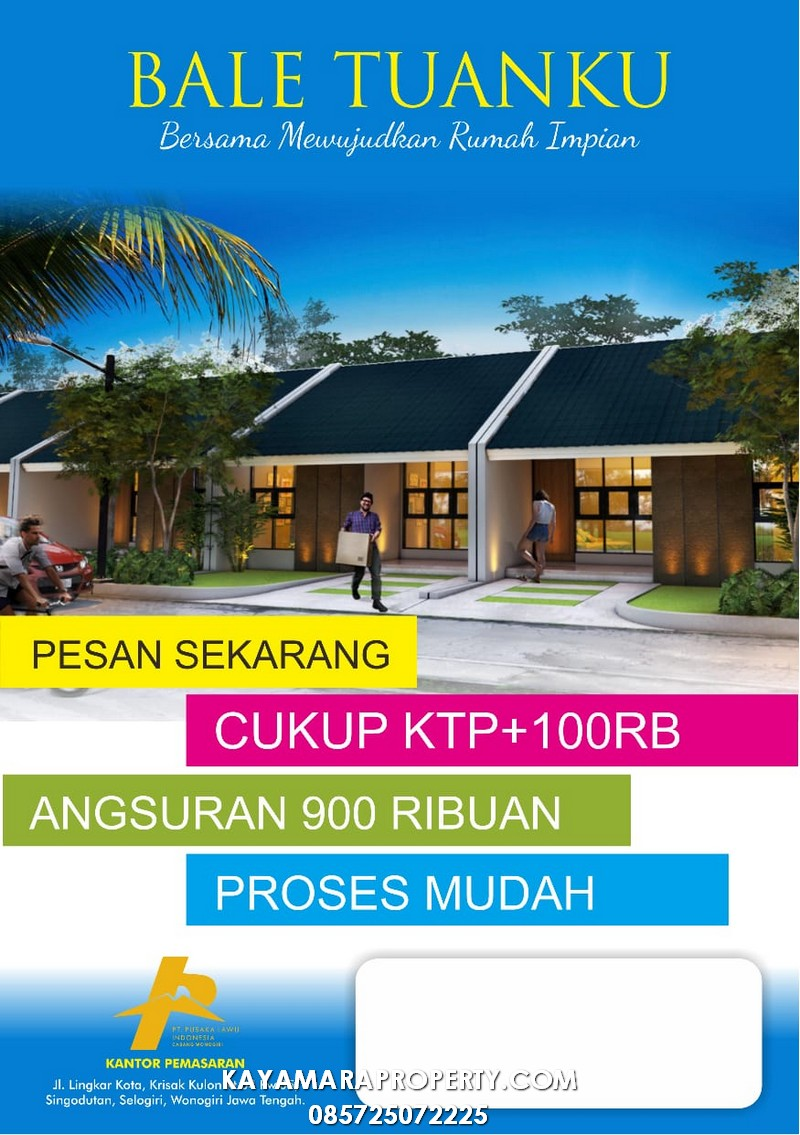 PP01 Rumah Subsidi Wonogiri brosur