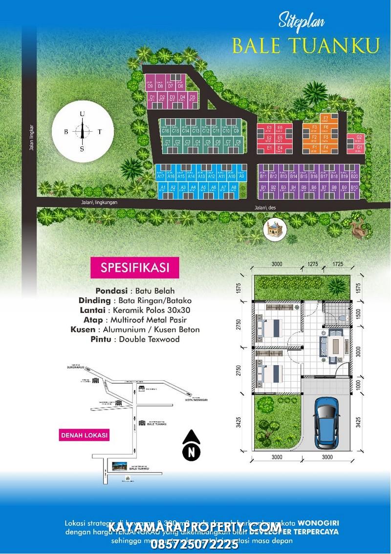 PP03 Rumah Subsidi Wonogiri pamflet